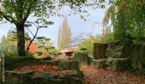 Jardin japonais nantes de lotharingia photo libre de for Achat jardin nantes