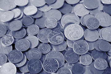Many coins as a background photo