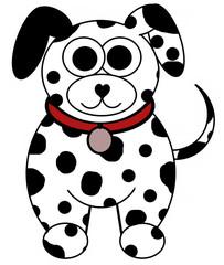 Dalmatian Dog Cartoon - Isolated on white