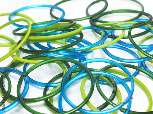 Colorful scattered bangles