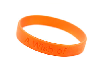 "silicone wristband, bracelet  ""wish of "" (clipping path)"