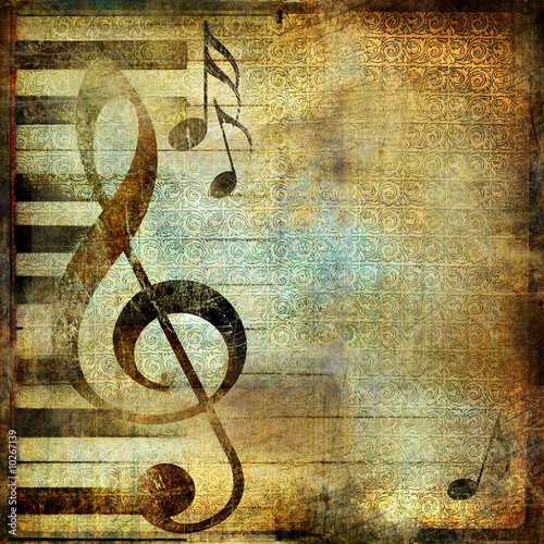 canvas print picture grungy musical background
