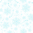 Light blue snowflakes, winter pattern that will tile seamlessly