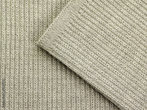 Background with gray woolen fabric