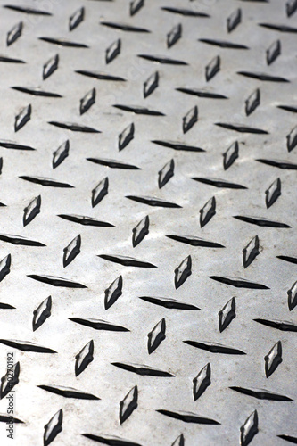 Close-up of Diamond Plate Steel
