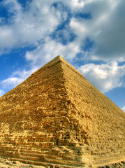 a high dynamic range image of the great pyramid in Egypt