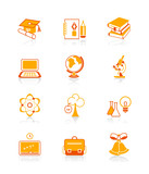 Fototapety Education objects icons | JUICY series