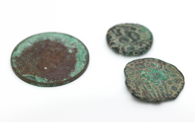 Old ancient coins