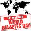 world diabetes day - rubber stamp