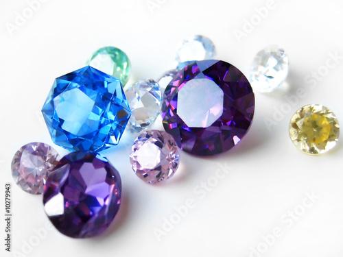 Multicolor gemstones close-up - 10279943