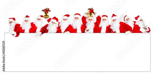 Happy Christmas Santa. Isolated over white background.