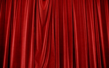 Red Stage Curtain or Drapes