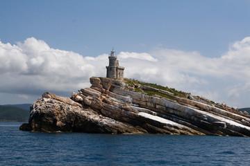 Insel vor der Einfahr von Portoferraio, Elba