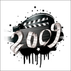 greeting card  - 2009  film strip- vector