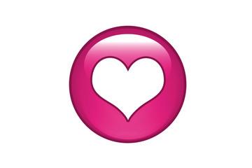 Aqua Button Herz