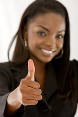 Business thumb up - isolated over a white background.