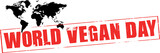 world vegan day rubber stamp