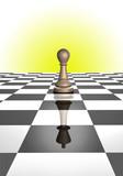 pawn reflecting king poster