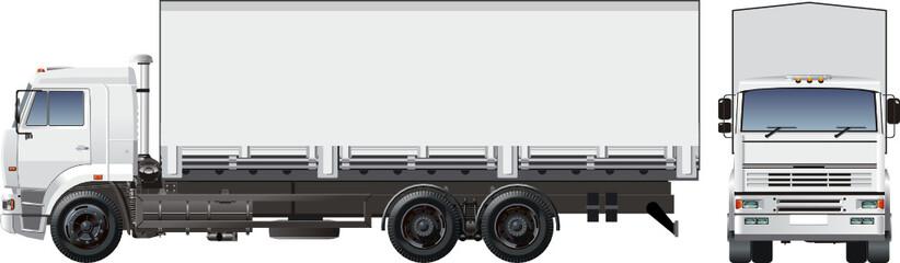Vector cargo truck