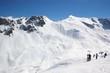 alpine skiing landscape