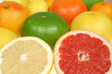 Citrus fruit - colorful background abstract.