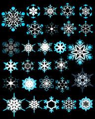 illustration of crystalline snoeflake designs