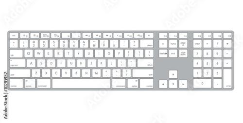 A stylish metalic computer keyboard illustration - 10299152