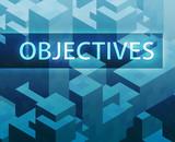 Strategy illustration, management organization structure poster