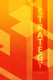 Strategy illustration, management organization structure poster