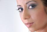 captivating portrait of glamorous lady with beautiful eyes poster