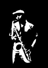 Saxophon-Spieler 2