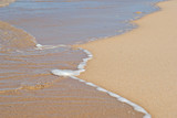 great image of a gentle peaceful wave on the beach poster