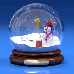 Boccia di vetro con pupazzo di neve