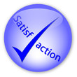 """Satisfaction"" logo button"