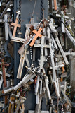 Hill of Crosses. Place of pilgrimage in Lithuania, Europe poster