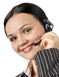 portrait of beautiful customer support woman