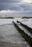 Baltic Sea and dark sky