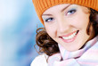 Happy young woman face with beauty smile