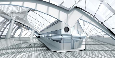 modern architecture 3d render