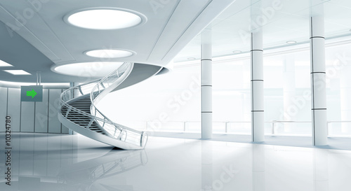 modern interior with stair