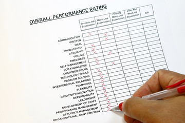 Overall performance rating concept