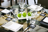 elegant table setting with apples. - Fine Art prints