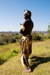african zulu tribe man