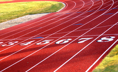 Track Field starting line