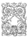 Engraving ornament poster