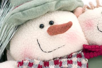 muñeco de nieve de tela