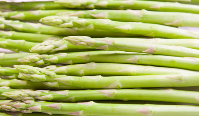 Background of green asparagus