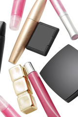 Cosmetics isolated on a white background