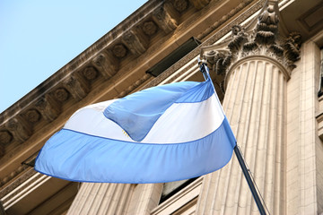 Argentina flag waving in the wind