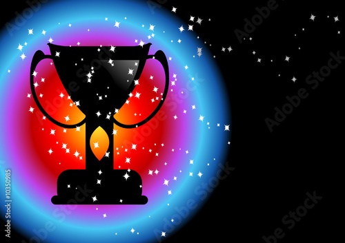 Editable abstract vector background - Champions concept